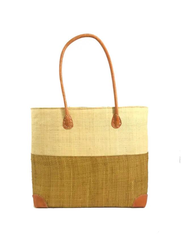 Two Tan Straw Bag