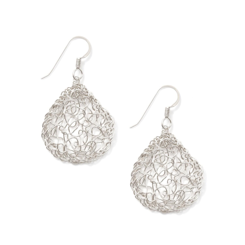 Sterling Silver Pear Earring