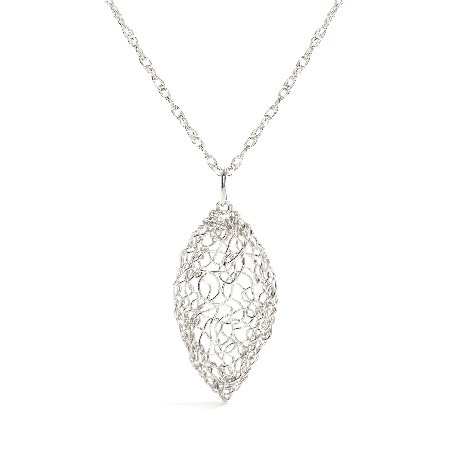 Sterling Leaf Necklace