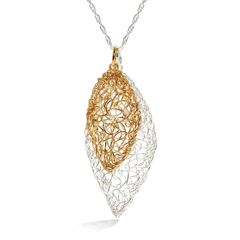Silver & Gold Leaf Necklace