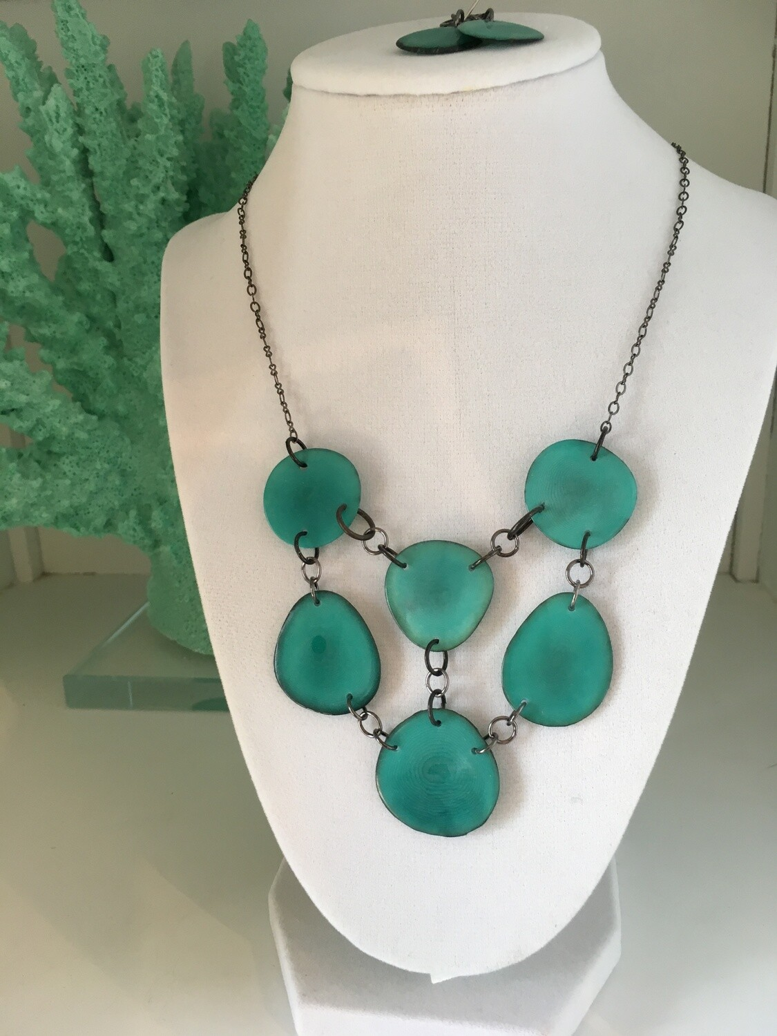 Aqua Bib Necklace