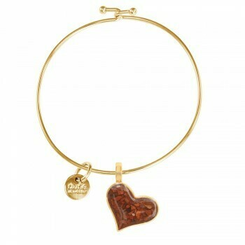 Tilted Heart Beach Bangle