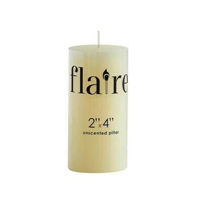 2x4 Pillar Unscented Ivory Candle