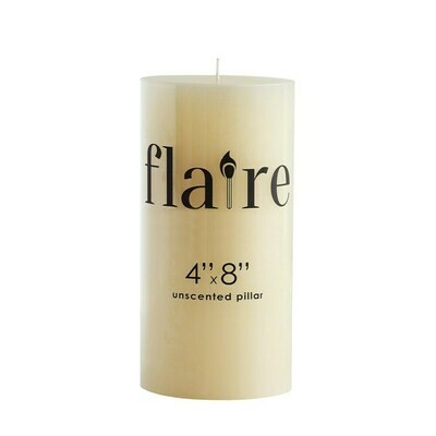 """4x8"""" Unscented Pillar Candle"""