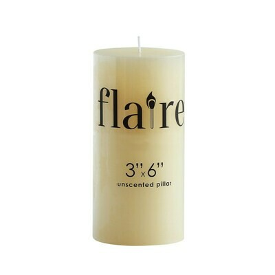 """3x6"""" Unscented Pillar Candle"""