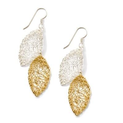 Double Leaf Dangle Earring
