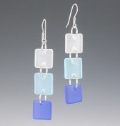 Shades of Blue Dangle Earrings