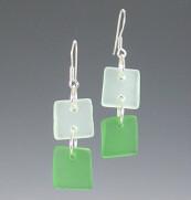 Shades of Green Dangle Earrings