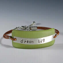 """Dream Big"" Message Bracelet"