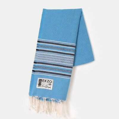 Sky Blue Beach Towel