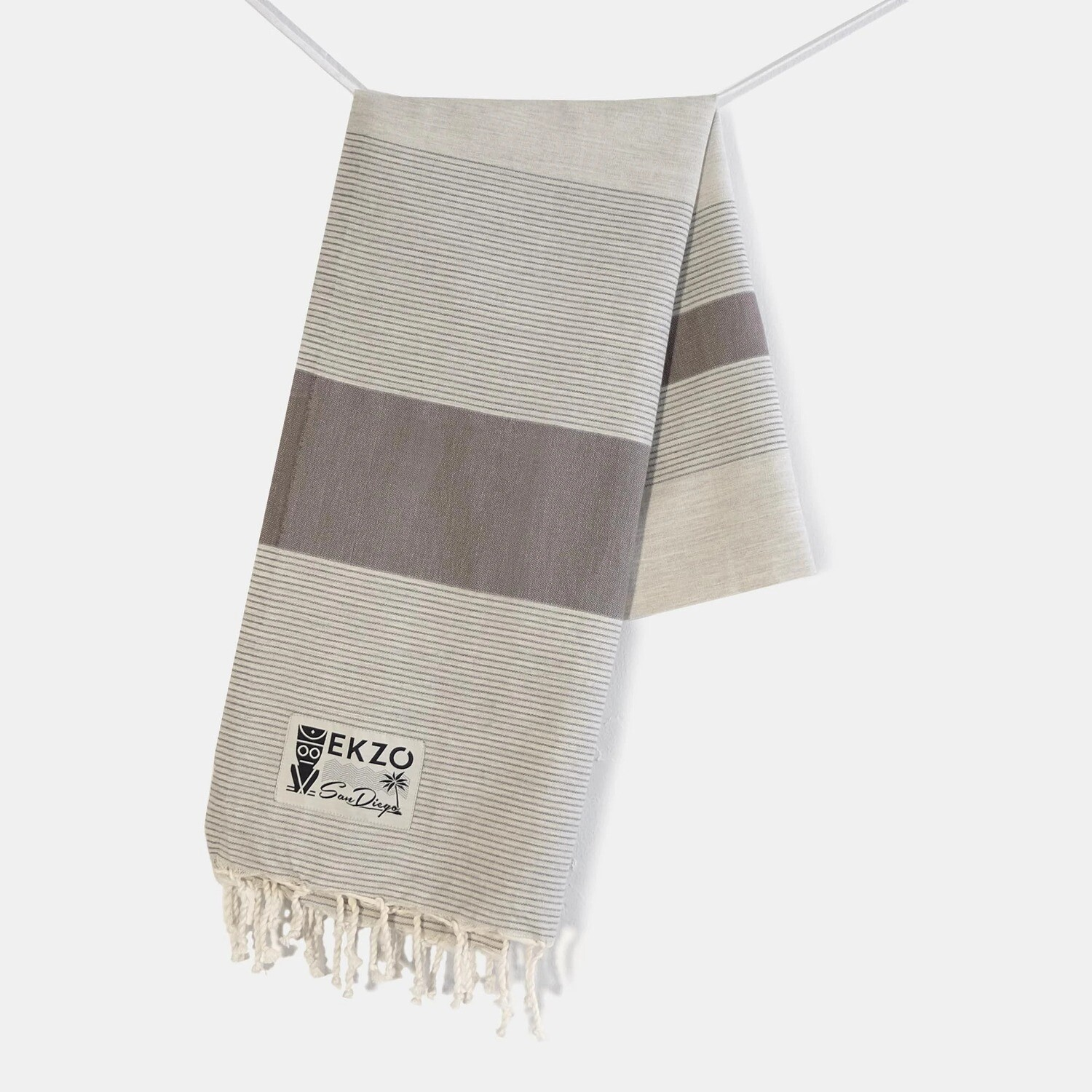 EKZO Taupe Beach Towel