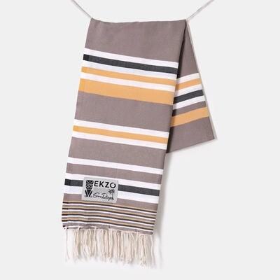 EKZO Designer Taupe Beach Towel