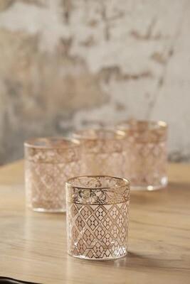 18k Gold Quinn Rocks Glasses Set of 4