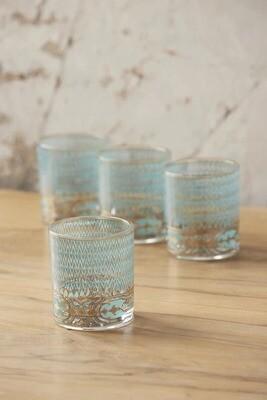 18k Gold Firenze Rocks Glass Set of 4
