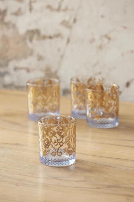 18k Golden Rocks Glasses - Set of 4