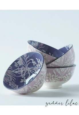 Summer Lilac Tidbit Bowl
