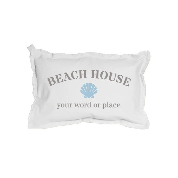 Beachy Hand Painted Pillows