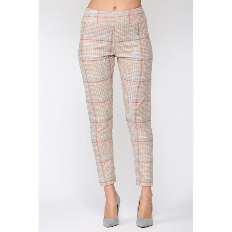 Plaid Faux Suede Pant