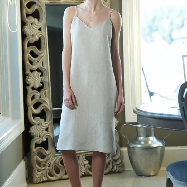 Linen Slip Dress