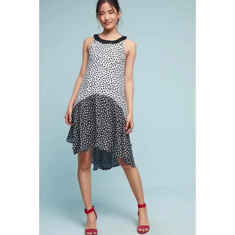 Flirty Black & White Floral Dress