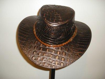 Crocodile Back Skin Hat