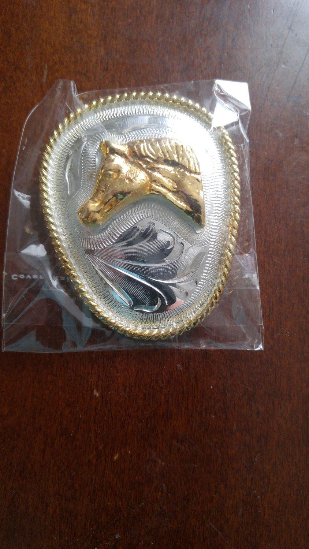Silver Oval Horse Head  Bolo Tie