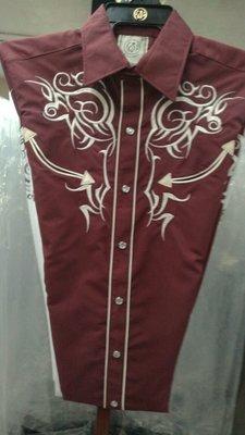 Navajo Wine & Cream Embroide Shirt