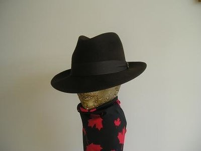 Chocolate Brown Felt Fedora