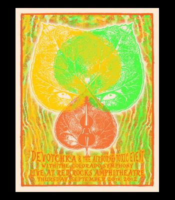 September 20, 2012 Red Rocks Poster