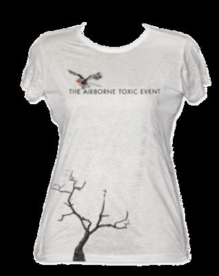 Bird & Tree - Women's White Burnout