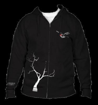 Bird & Tree Black Hoodie
