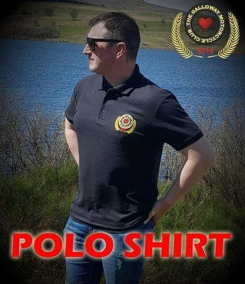 Black Galloway Club Polo Shirt