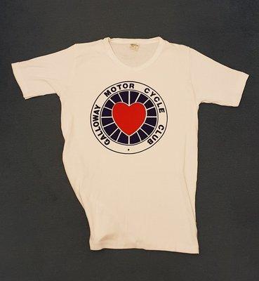 White Retro T-Shirt (Ladies Cut)