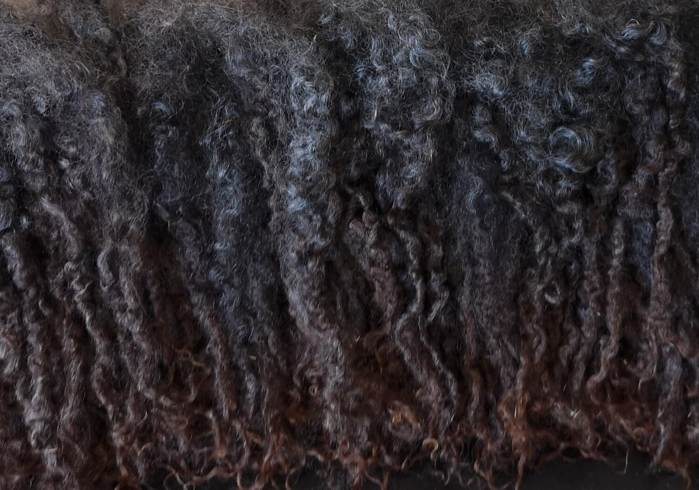 Wensleydale Locken 20Gr natur dunkel, gewaschen