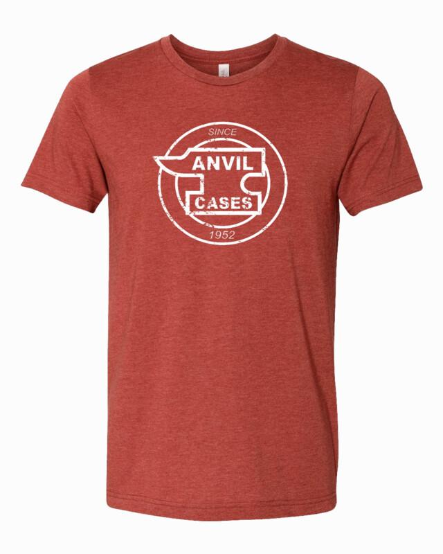 Anvil Cases White Distress Logo Bella Canvas T-shirt FREE SHIPPING