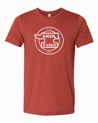 Anvil Cases White Distress Logo Bella Canvas T-shirt FREE SHIPPING