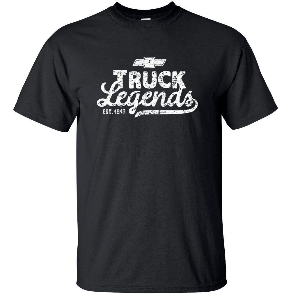"CHEVY TRUCK LEGENDS White Distress Logo T-shirt Gildan ""FREE SHIPPING"""