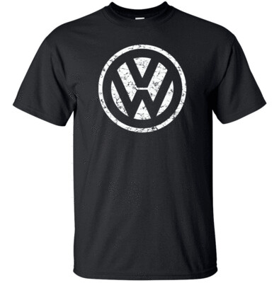 "VOLKSWAGON VW White Distress Logo T-shirt Gildan ""FREE SHIPPING"""