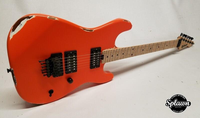 Splawn SS1 Guitar Orange over White Nitro Relic