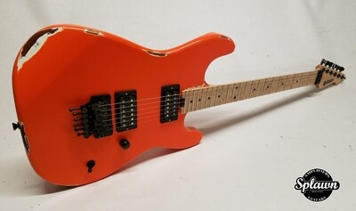 Splawn SS1 Guitar Orange over White Nitro Relic