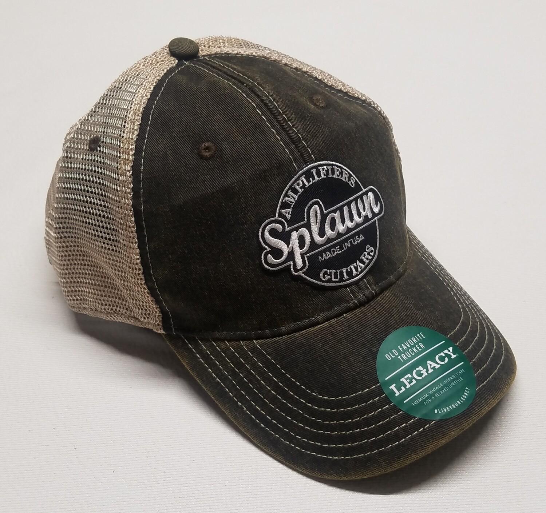Splawn Amplification Guitars Trucker Cap Legacy OLD FAVORITE TRUCKER HAT Black