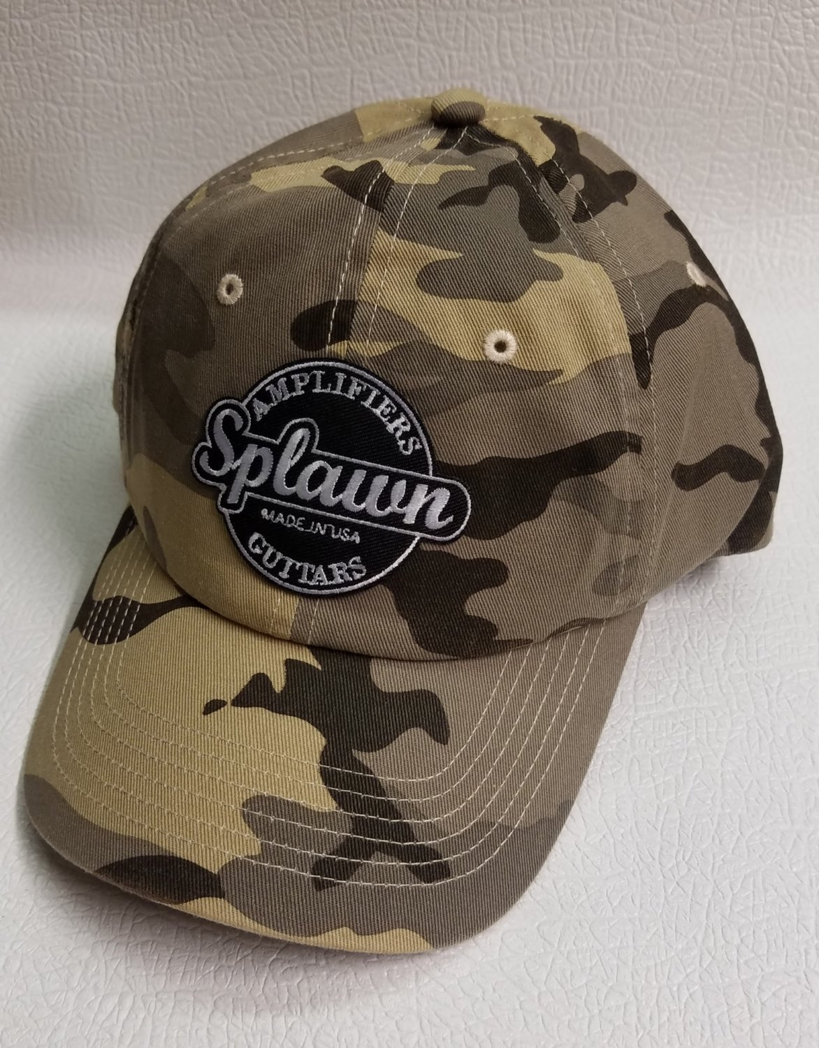 Splawn Amplification Guitars Center Logo Port Authority Cap Desert Camo