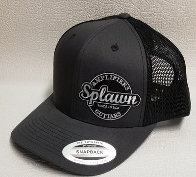 Splawn Amplification Guitars Trucker Cap Snapback Charcoal with Black Mesh