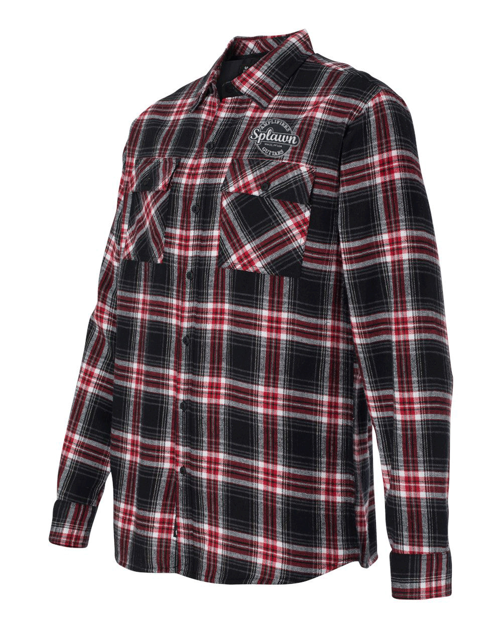Splawn Amplification Logo Red BURNSIDE Flannel Long Sleeve Shirt