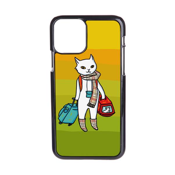 """Чехол пластиковый для айфона 12 pro max """"Кот-хипстер"""""""