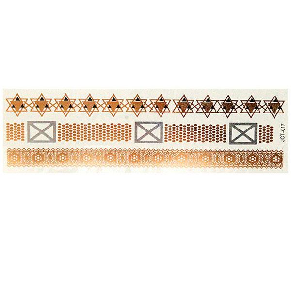 Временные флеш-тату  вариант 4 (лист 19х6 см)