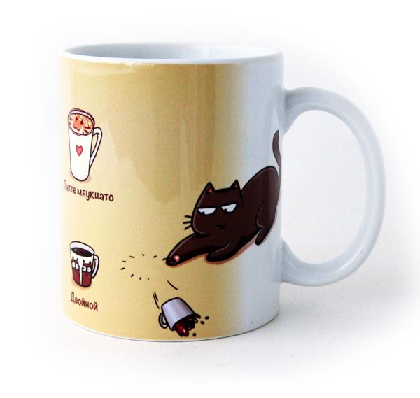"""Кружка """"Кофейные коты"""" (Уценка)"""