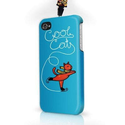 Чехол пластиковый для айфона SE/5/ 5S Cool cat с ланъярдом