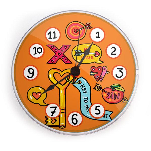 """Часы на магните """"Ключ от сердца"""""""