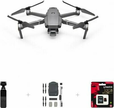 DJI Mavic 2 Pro - droon, DJI Smart Controller + Fly More Kit + DJI Osmo taskukaamera+ 32 GB mälukaart